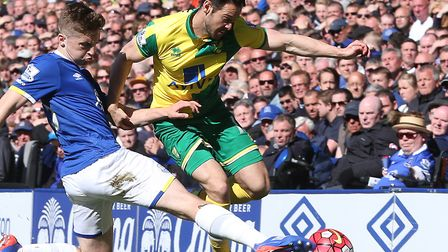 Matt Jarvis' final senior game for Norwich City was during a 3-0 loss at Everton in the Premier Leag
