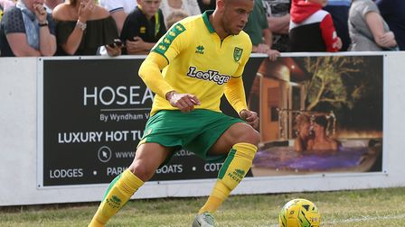 Carlton Morris in action for Norwich during pre-season in 2017 Picture: Paul Chesterton/Focus Images