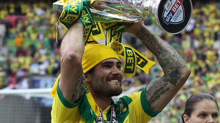 Bradley Johnson enjoyed play-off final glory at Wembley with Norwich City in 2015 Picture: Paul Ches