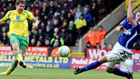 Grant Holt was the first Norwich City player in 42 years to score a derby hat-trick against Ipswich