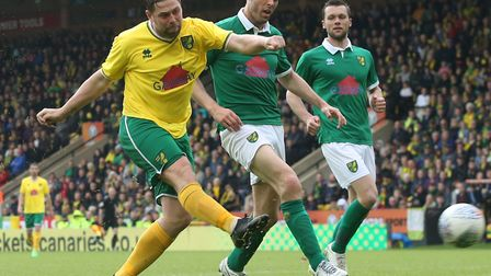 Grant Holt was back on the Carrow Road recently lending his support to former team mates Russell Mar