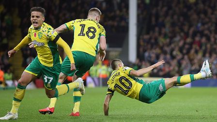 Moritz Leitner celebrates scoring against Millwall - but that was far from the end of the fun for No