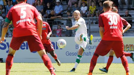 Teemu Pukki in action last summer, as Norwich City took on Paderborn during their 2018 pre-season to