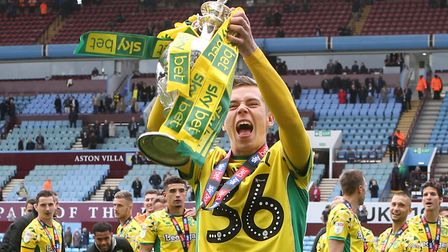 Todd Cantwell savours that title winning feeeling at Norwich City Picture: Paul Chesterton/Focus Ima
