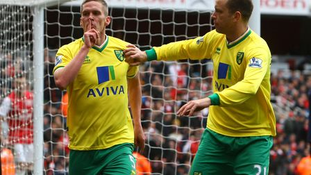 Steve Morison scores a late equaliser at The Emirates Stadium in May, 2012 - and has a message for C