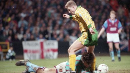 Top dogs - City beat Villa at Carrow Road to go back to the top of the Premier League in March, 1993
