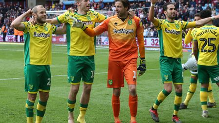 Norwich City stars Teemu Pukki, left, and Mario Vrancic, right, will be on opposing teams in Euro 20