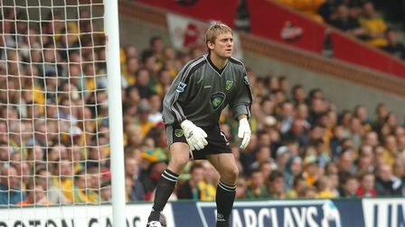 In between the sticks for City against Aston Villa in the Premier League in 2004 Picture: Archant