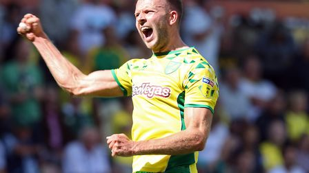 Jordan Rhodes was a popular player during Norwich City's successful promotion push Picture: Paul Che