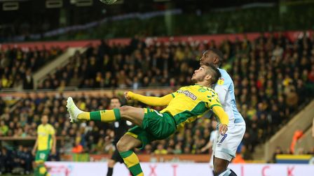 Emi Buendia forced a good save with an audacious overhead kick as Norwich beat Blackburn to seal pro