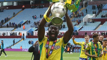 Alex Tettey enjoys the title celebrations at Aston Villa Picture: Paul Chesterton/Focus Images