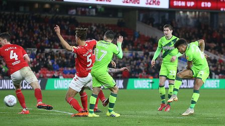 Onel Hernandez scored the only goal as Norwich City picked up a crucial victory at Middlesbrough, at
