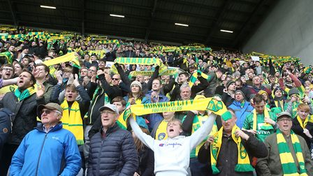 More than 5,000 Norwich City fans travelled to Wigan towards the end of last season. Picture: Paul C
