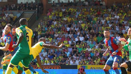 Cameron Jerome had a 'goal' disallowed for a high foot on Norwich City's Premier League return in 20