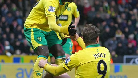 Kei Kamara and Grant Holt - both were on target in a dramatic game against Everton in Ferbuary, 2013