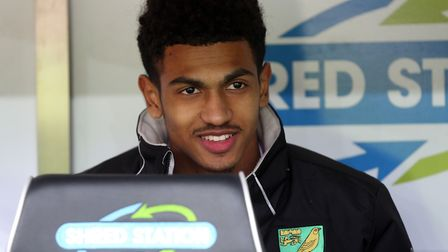 Marcus Edwards on the sidelines at Carrow Road Picture: Paul Chesterton/Focus Images Ltd