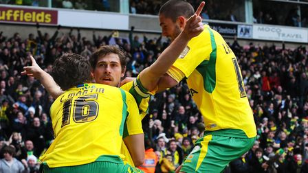 Grant Holt secured legendary status at City thanks to his derby day heroics. Picture: Archant