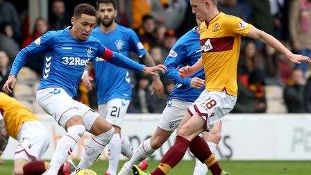 Motherwell midfielder David Turnbull is at Celtic to complete his move Picture: PA