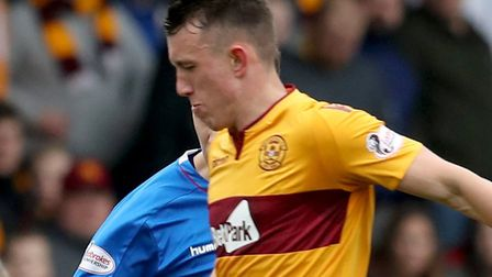 Motherwell's David Turnbull in action against Rangers during a Scottish Premiership match Picture: P