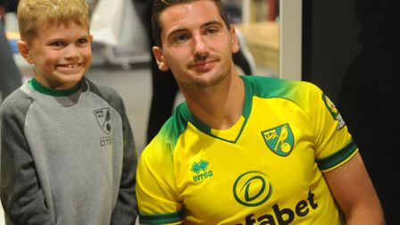 Norwich City held a signing session at Jarrold Intersport Norwich on the same day that the club's ne