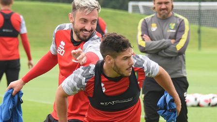 Josip Drmic (behind) will want to make an early impression Picture: DENISE BRADLEY