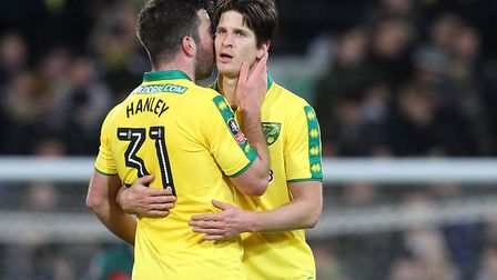 Grant Hanley and Timm Klose proved a useful double act during Norwich City's 2017-18 campaign - alth