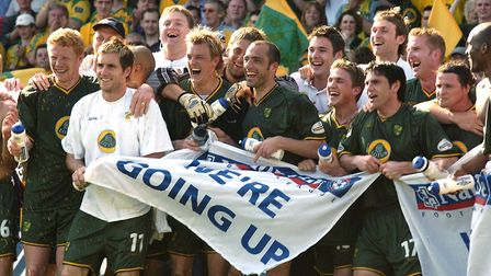 Promoted City get the party started at Watford in 2004 Picture: Archant