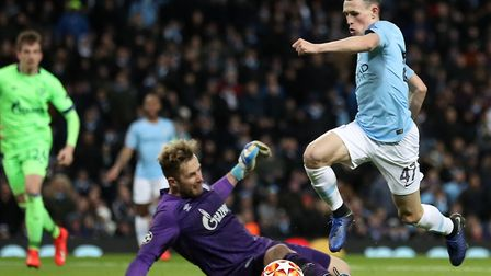 Ralf Fahrmann in action against Manchester City in the Champions League last season Picture: Martin