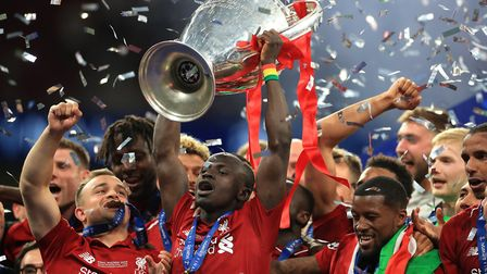 Sadio Mane, centre, is still in African Cup on Nations action with Senegal and set to miss most of L