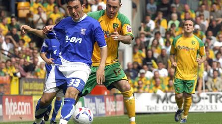 Andrew Hughes has admitted he loved playing in the East Anglian derby for Norwich City against Ipswi
