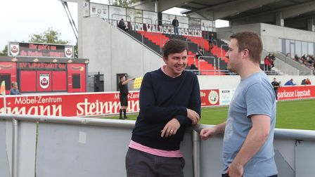 David Freezer, right, and Paddy Davitt discuss all the latest Norwich City issues at the home of SV
