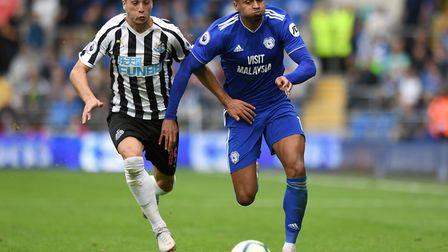 Former Norwich City winger Josh Murphy, right, wasn't able to help keep Cardiff City in the Premier