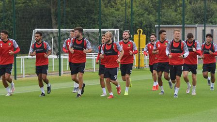 Norwich City football team training at Colney. Picture: DENISE BRADLEY