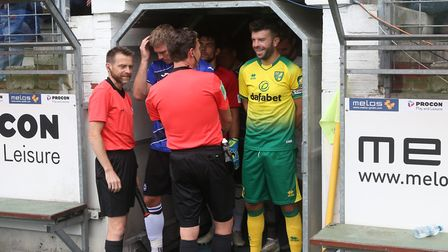 Grant Hanley of Norwich before the Pre-season friendly match at Energieversum Stadion, GuterslohPict