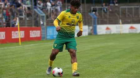 Onel Hernandez of Norwich in action during the Pre-season friendly match at Energieversum Stadion, G