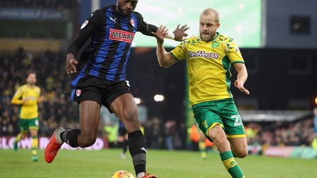Rotherham midfielder Semi Ajayi has reportedly caught the attention of Norwich City's scouts Picture