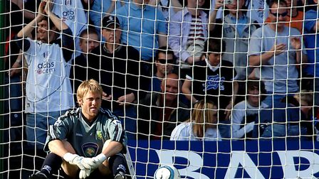 Robert Green contemplates Norwich City falling 6-0 behind at Fulham - a 2005 defeat that sealed the