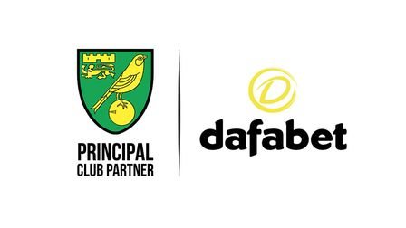 Norwich City have announced Dafabet as their new principal club partner Picture: Norwich City FC