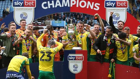 Norwich City sealed a Premier League return as winners of the Champioship title Picture: Paul Cheste