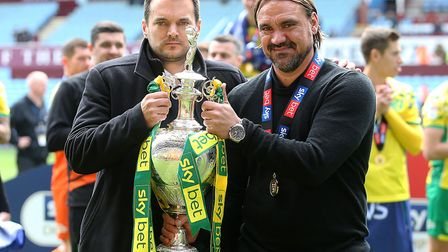 Sporting director Stuart Webber, left, and head coach Daniel Farke will be working with one of the s