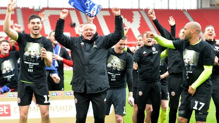 Sheffield United earned promotion to the top tier as Championship runners-up Picture: Save Howarth/P