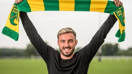 Norwich City's new signing Josip Drmic Picture: Norwich City FC