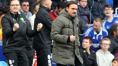 Daniel Farke is also unbeaten in his East Anglian derby tussles against Ipswich Town Picture: Paul C