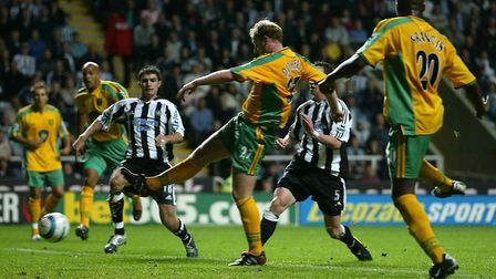 Gary Doherty levels the score at Newcastle in August, 2004 Picture: Andrew Unwin/Sportsbeat Images
