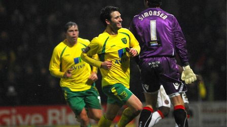 Wes Hoolahan completes his hat-trick Picture: Archant