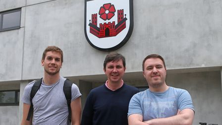 From left, Tony Thrussell, Paddy Davitt and David Freezer at SV Lippstadt Picture: Paul Chesterton/F