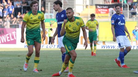 Moritz Leitner sealed Norwich City's friendly 2-1 win against Schalke 04 at the Frimo Stadion Pictur