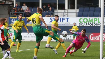Marco Stiepermann opened the scoring for Norwich at Luton Picture: Paul Chesterton/Focus Images
