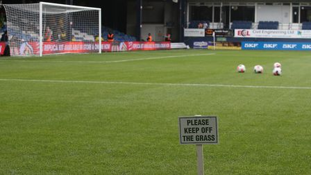 General view of the stadium before the Pre-season friendly match at Kenilworth Road, LutonPicture by