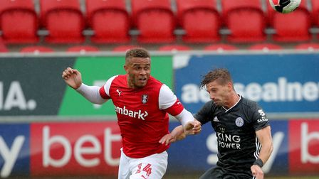 Norwich City striker in action for Rotherham during a pre-season firendly against Leicester Picture: